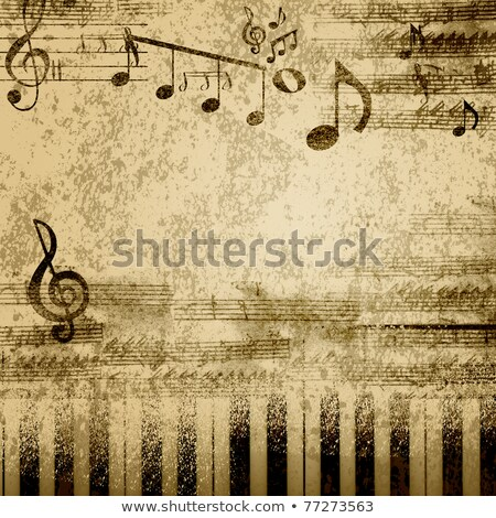 Old paper score of a song Stock photo © konradbak