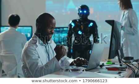 Future young African American engineer Stock photo © ozgur