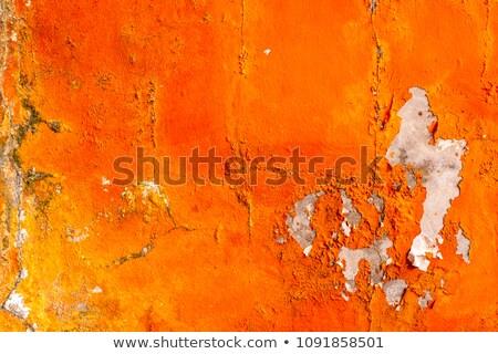 Pomarańczowy gipsu tekstury real architektoniczny ściany Zdjęcia stock © taviphoto