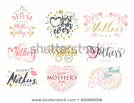 Happy mother's day card on black  Stock photo © shawlinmohd
