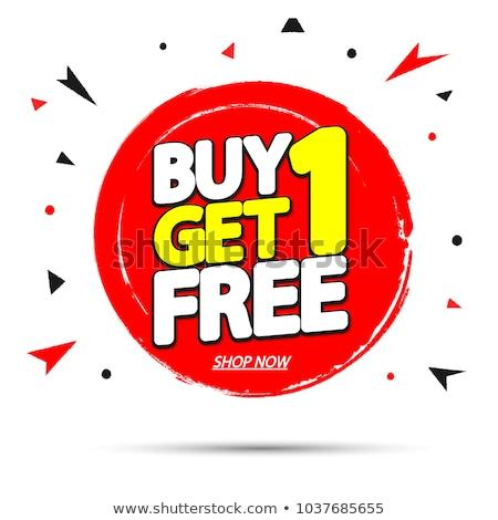 Comprar uno libre icono símbolo ilustración Foto stock © kiddaikiddee