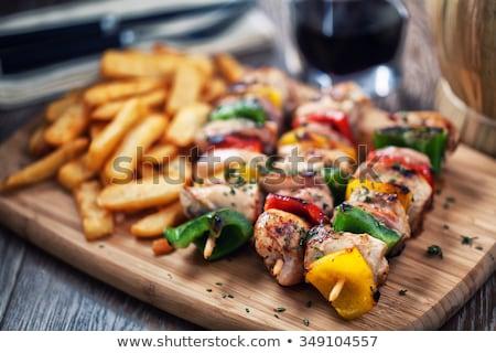 chicken skewer with potatoes stock photo © digifoodstock