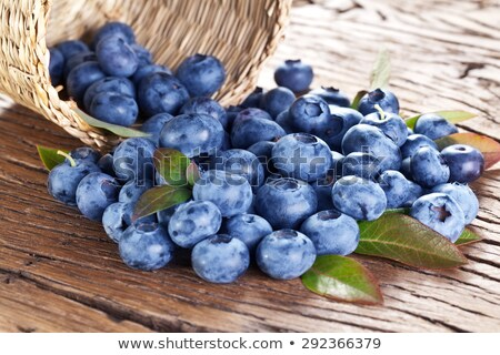 Blueberries on wooden table Stock photo © stevanovicigor