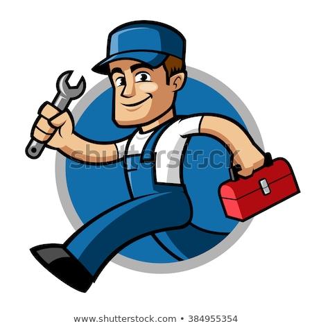 Hydraulik maskotka cartoon wektora wody domu pracownika Zdjęcia stock © doddis
