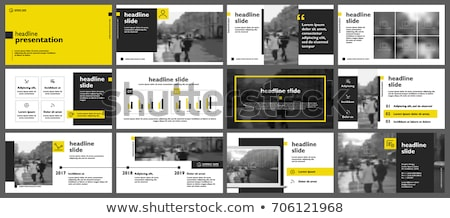 презентация набор люди человека черный Сток-фото © laschi