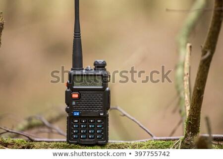 Soldado forestales radio ilustración hombre naturaleza Foto stock © bluering
