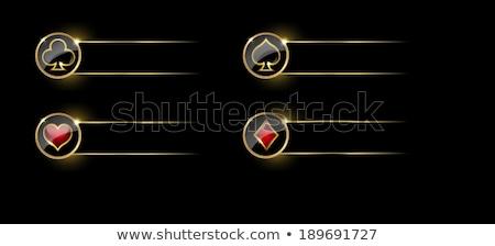 покер икона кнопки вектора графических искусства Сток-фото © vector1st