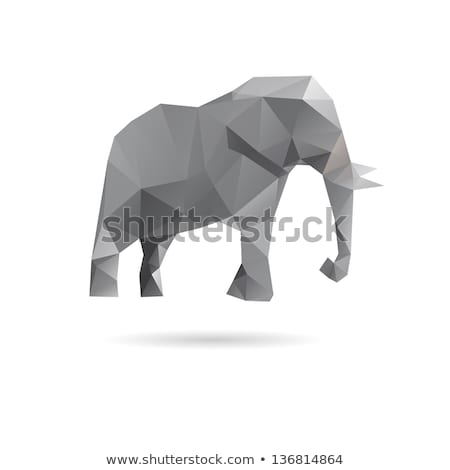 grey abstract animal icons stock photo © cidepix