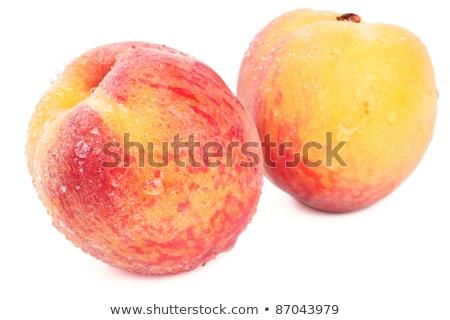 pêssego · inteiro · fruto · isolado · amor · sensual - foto stock © tatiana3337