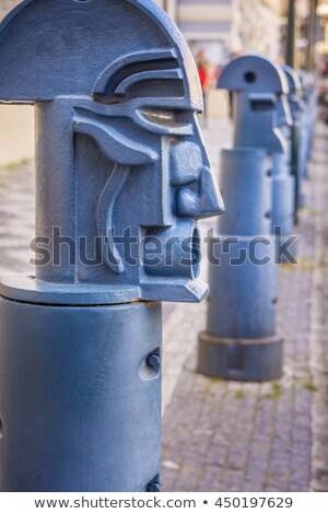 Parking posts of Prague Stock photo © LucVi