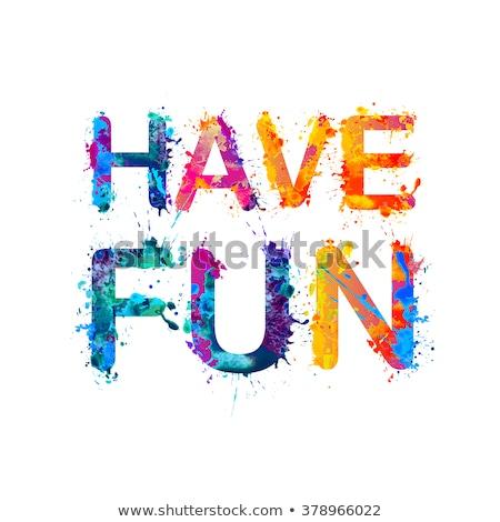 feliz · escuela · ninos · colorido · alfabeto · cartas - foto stock © fuzzbones0