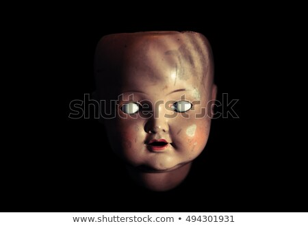 気味悪い 人形 顔 レトロな 暗い アンティーク ストックフォト © sqback
