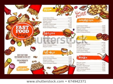 Donut alimentaire menu bannière modèle Photo stock © vector1st