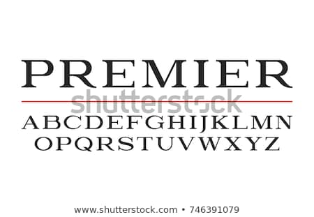 Black newspaper letters font, latin alphabet signs isolated on white Stock photo © Evgeny89