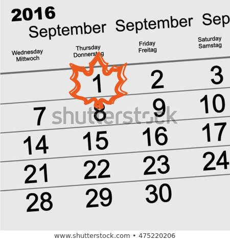осень 2016 календаря Maple Leaf Снова в школу дизайна Сток-фото © orensila