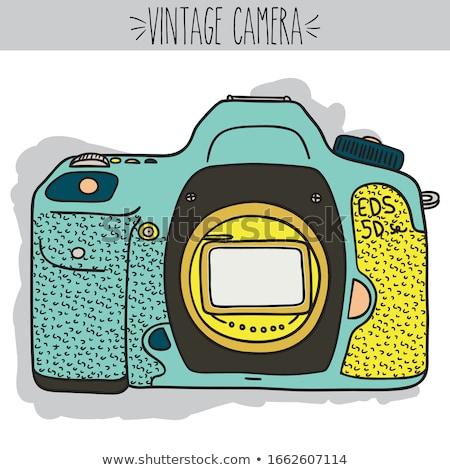 単純な · スケッチ · カメラマン · 実例 · 白 · 光 - ストックフォト © bluering