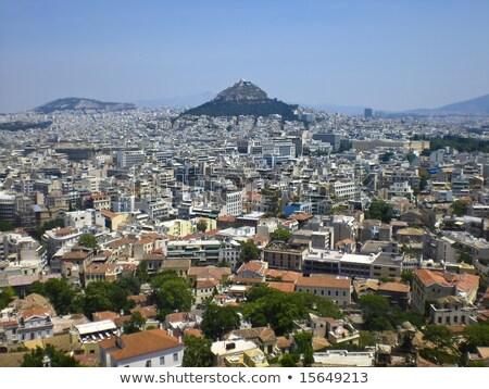 Atenas distante ladera vista residencial ciudad Foto stock © russwitherington