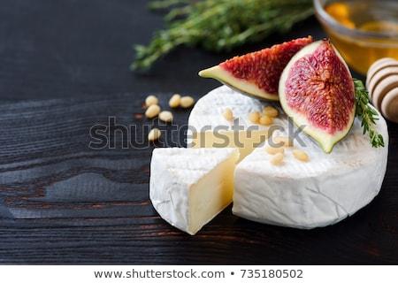 チーズ · ナッツ · ジャム · 木製のテーブル · 食品 · グループ - ストックフォト © janssenkruseproducti