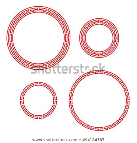 klasszikus · kínai · piros · kör · ablak · fényképkeret - stock fotó © jiaking1