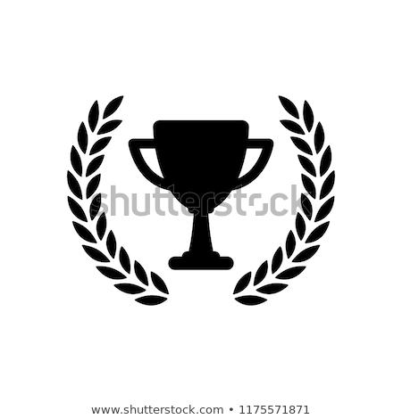 şampiyon fincan ödül ikon başarı yalıtılmış Stok fotoğraf © Decorwithme
