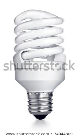 energia · takarékosság · fluoreszkáló · villanykörte · izolált · fehér - stock fotó © kayros