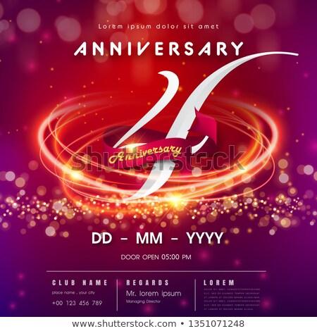 Verjaardag viering kaart sjabloon verjaardag Stockfoto © SArts