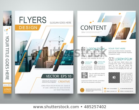 abstract shapes booklet brochure template design. Magazine cover Stock photo © SArts