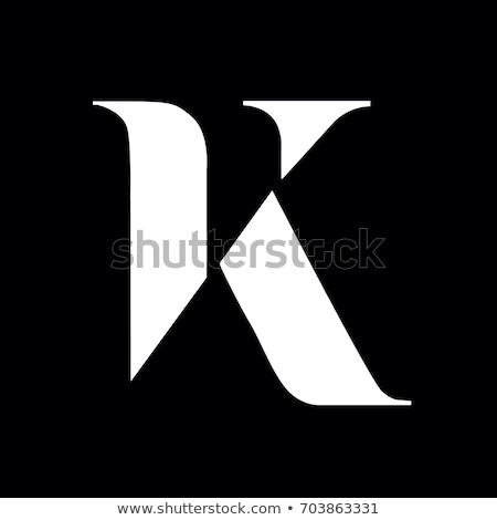 gold emblem monogram logo design for letter K Stock photo © SArts