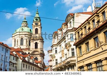dar · sokak · Prag · eski · bölge · gündoğumu - stok fotoğraf © kirill_m