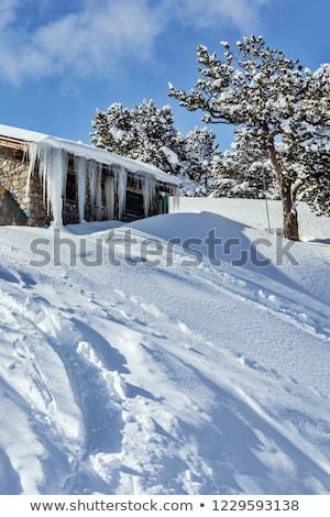 Vallei water huis gebouw hout natuur Stockfoto © pedrosala