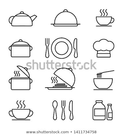 Fach Essen trinken Illustration Hintergrund Kunst Stock foto © bluering