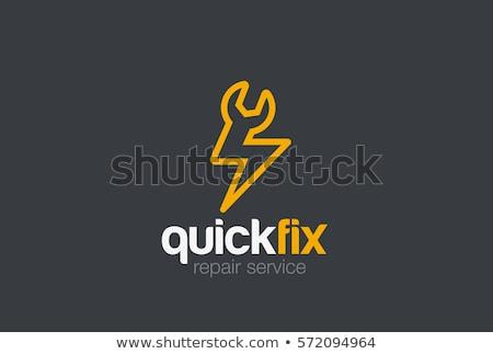 rapide · logo · conception · de · logo · travaux · signe · mobiles - photo stock © sdCrea