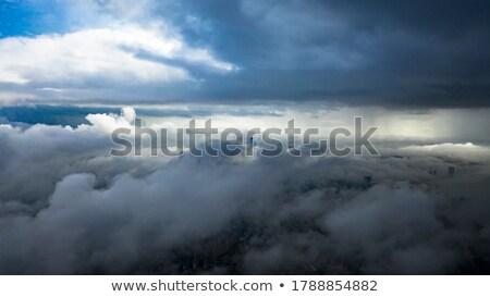 долины облаке тумана красивой пейзаж природы Сток-фото © Yongkiet