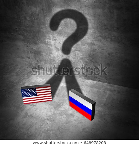 Russia American news question Stock photo © Lightsource