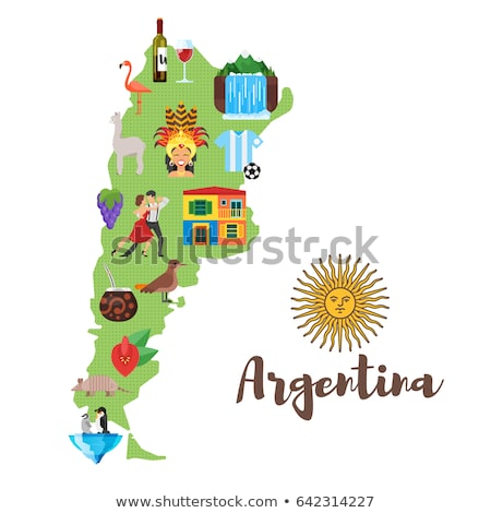 illustration of Argentina map with Argentinian national cultural Stock photo © curiosity