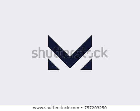 Letra m logo prima diseno resumen retro Foto stock © SArts