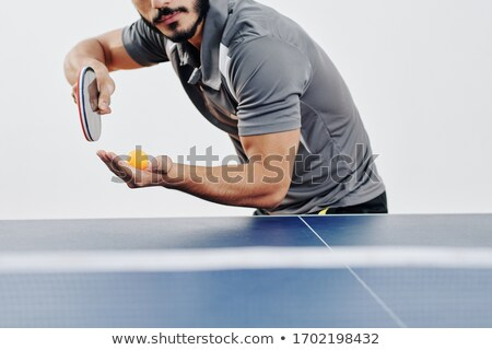 Cropped image of racket with ball Stock photo © wavebreak_media