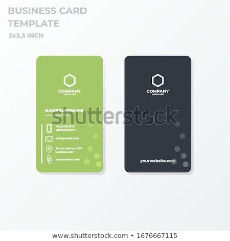Blau Welle Vektor Visitenkarte Design Vorlage
