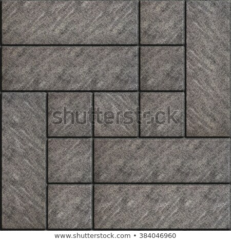 Texture of Rectangular Gray Paving Slabs with Scuffed. Stock photo © tashatuvango