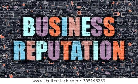 Business Reputation Concept. Multicolor on Dark Brickwall. Stock photo © tashatuvango