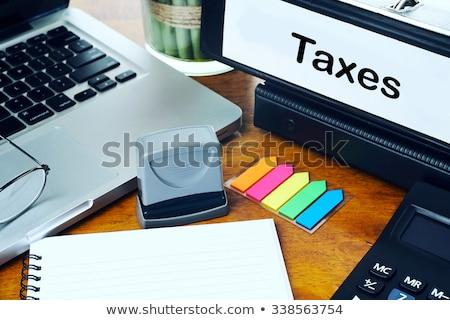 economico · previsione · ufficio · cartella · offuscata · immagine - foto d'archivio © tashatuvango