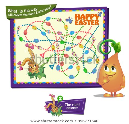 What  is the way will collect the more Easter eggs Stock photo © Olena