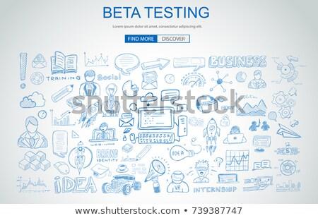 Beta testen business doodle ontwerp stijl Stockfoto © DavidArts