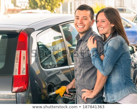 Couple with a car in petrol pump Stock photo © wavebreak_media
