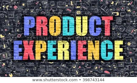 product experience in multicolor doodle design stock photo © tashatuvango
