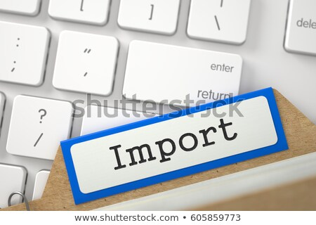 File Card with Inscription Import. 3D. Stock photo © tashatuvango