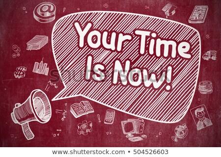tijd · nu · afbeelding · mooie · klok · business - stockfoto © tashatuvango