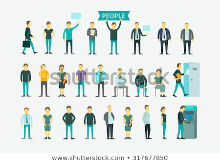 Man Queue Flat Icon Stock photo © ahasoft