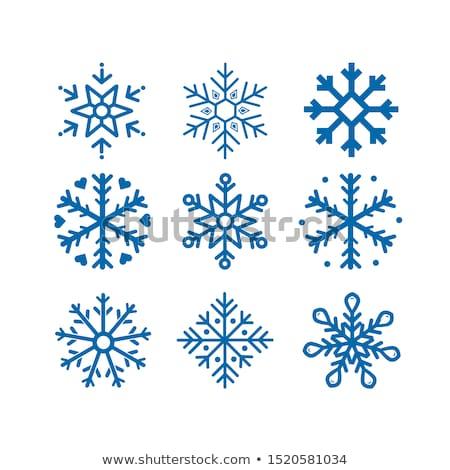 kristály · hó · szett · illusztráció · absztrakt · háttér - stock fotó © opicobello