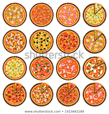 Set of various types of pizza Stock photo © frescomovie